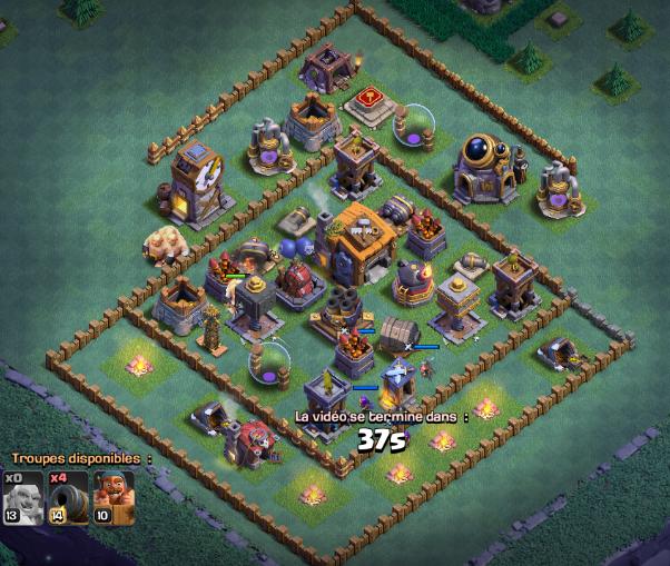 Comment attaquer cette base maison des ouvriers ?  Clash of Clans